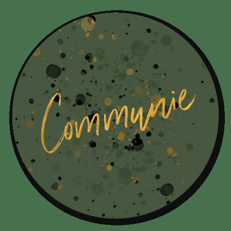 Communie spetters goud donkergroen