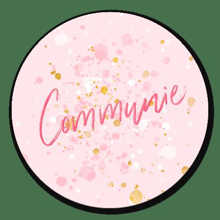 Communie spetters goud roze