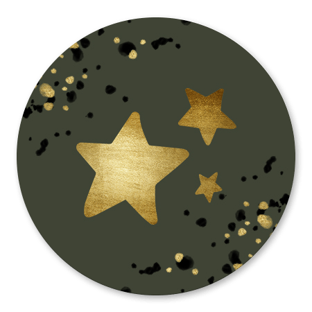 Gouden sterren met spetters