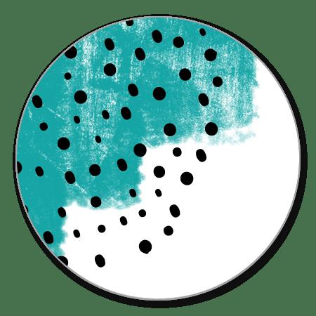 Verfstrepen turquoise