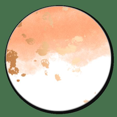 Waterverf oranje/roze gouden spetters