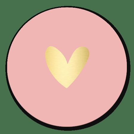 Goudlook hartje meisje