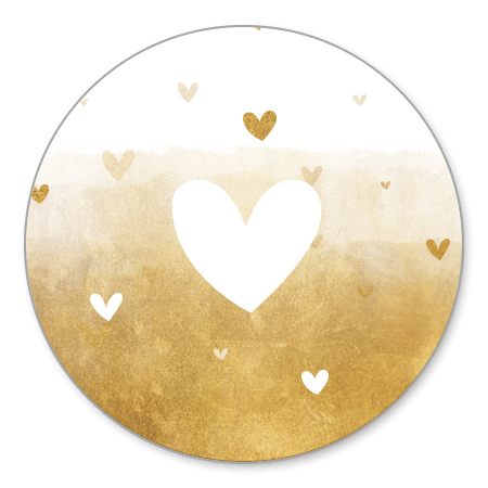Gouden achtergrond met wit hartje