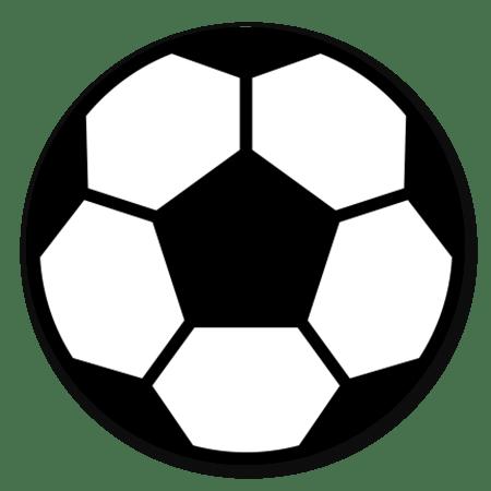 Voetbal zwart/wit