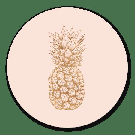 Koperen ananas
