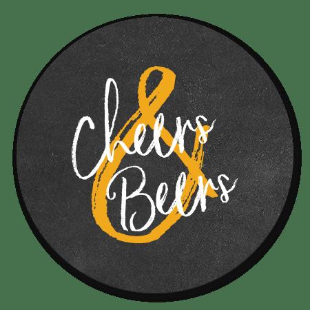 Cheers & Beers krijtbord