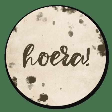 Vintage 'hoera!'
