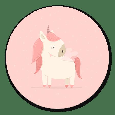 Unicorn met sterren roze