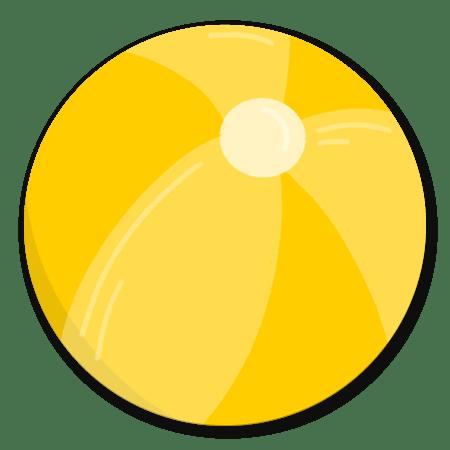 Strandbal geel