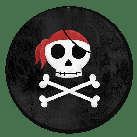 Piraten schedel zwart