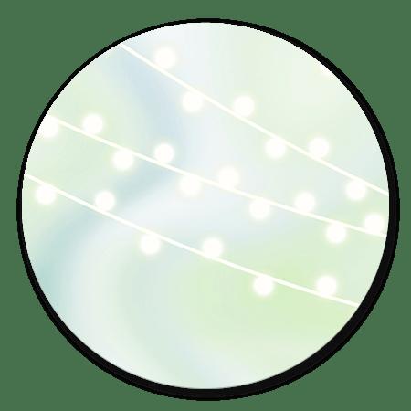 Waterverf groen/blauw met lampjes