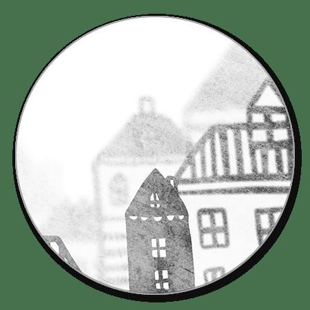 Huisjes zwart-wit diepte