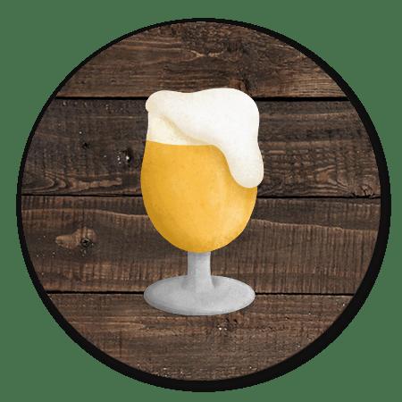 Bier met houtlook achtergrond