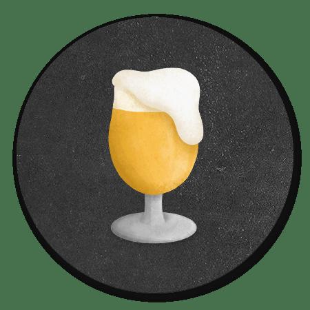 Bier met krijtbord achtergrond