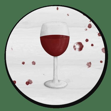Wijnglas met houtlook achtergrond