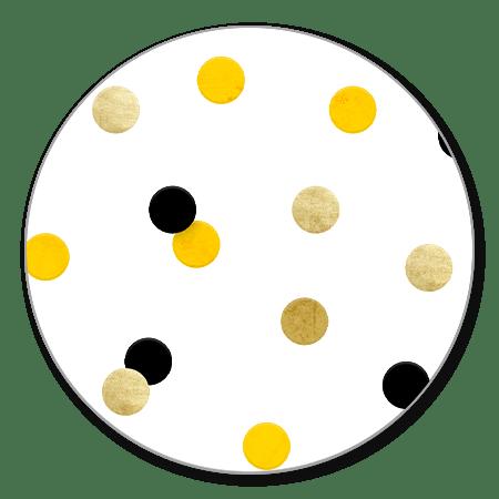 Confetti goud/wit