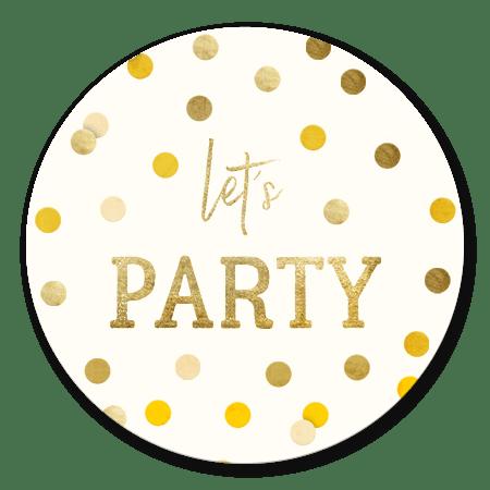 Let's party gouden confetti