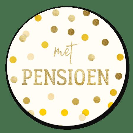 Met pensioen gouden confetti