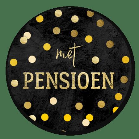 Met pensioen confetti krijtbord