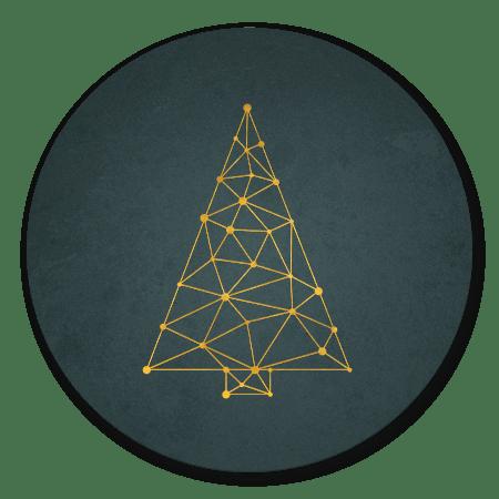 Kerstboom connectie goud/groen