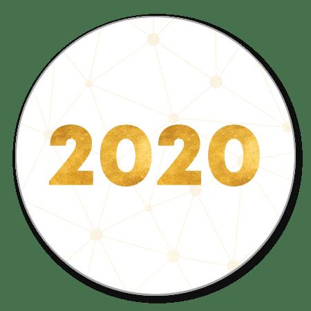 Gouden 2020 verbinding wit