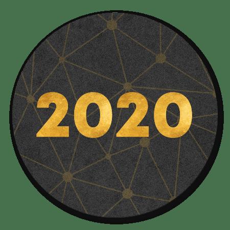 Gouden 2020 verbinding zwart