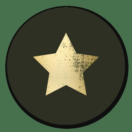Gouden ster ruw donkergroen