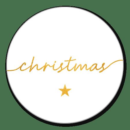 Gouden handgeschreven christmas met ster