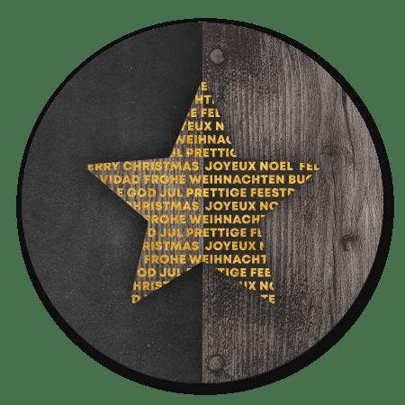 Ster internationaal met hout en krijtbord