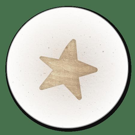 Houten ster licht