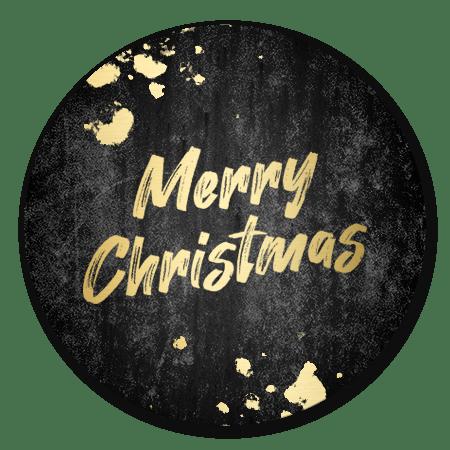 Gouden Merry Christmas met beton