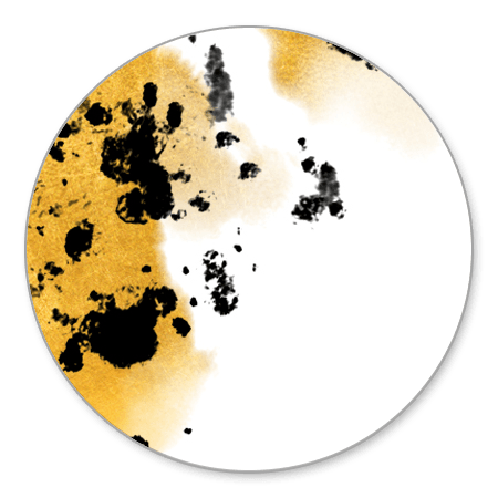 Gouden waterverf met zwarte spetters