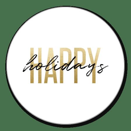Happy Holidays goud met zwart