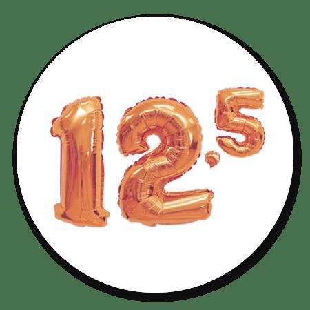 cijferballon koper 12,5