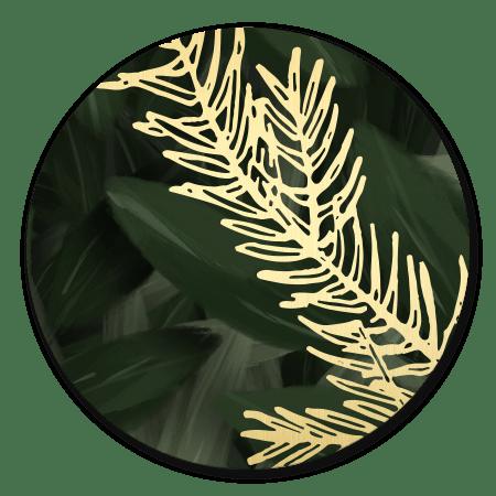 Jungle bladeren met gouden blad