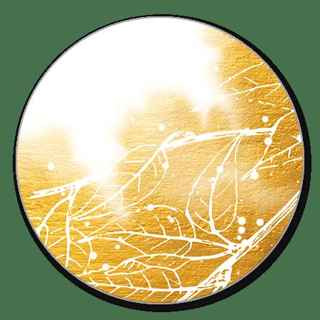 Bladeren met gouden waterverf