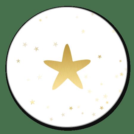 Wit met gouden ster