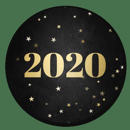 Krijtbord met gouden 2020