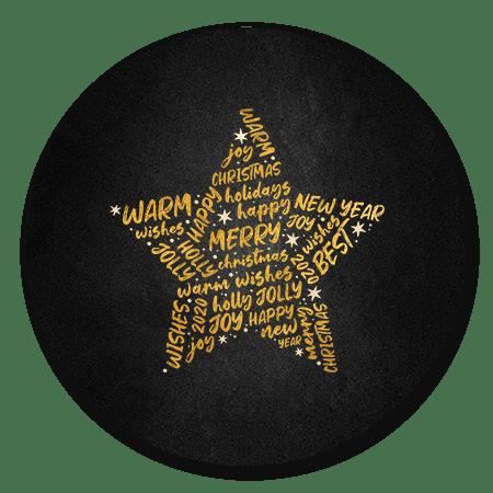 Ster met gouden woorden