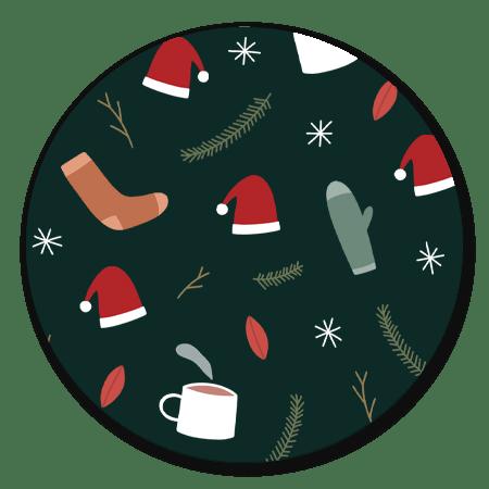 Kerst illustraties groen