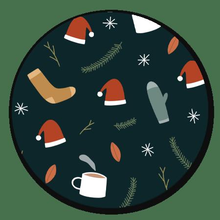 Kerst illustraties blauw