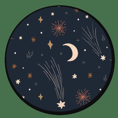 Vuurwerk en sterren kleur