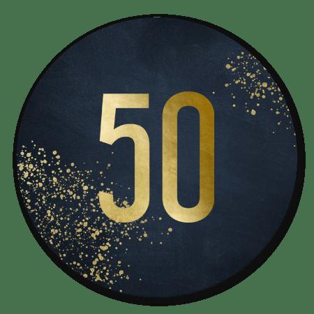 Gouden 50 diepblauw