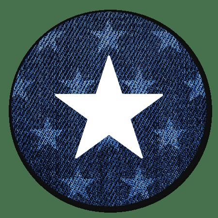 Denim met ster