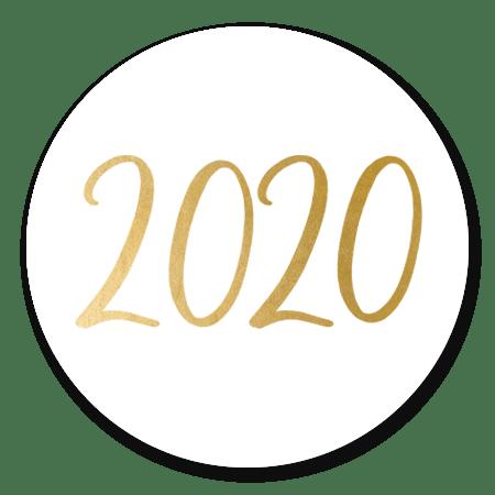 2020 - goud op wit