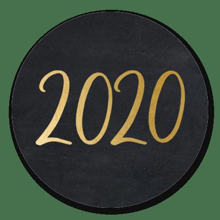 2020 - goud op zwart