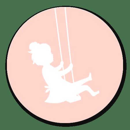 Silhouet - Meisje op Schommel