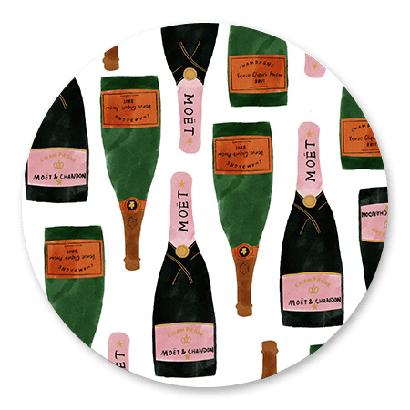 Champagne illustratie
