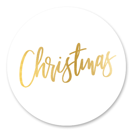 Christmas gouden letters - wit