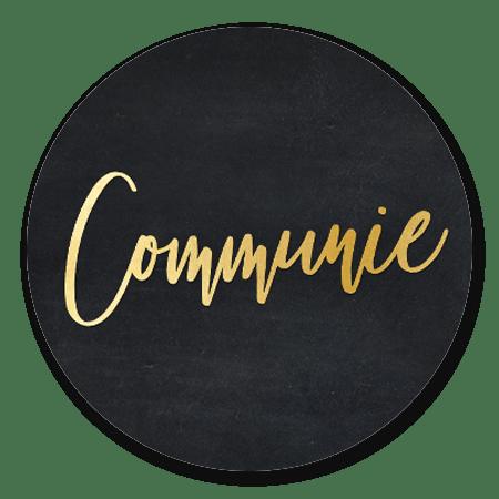 Communie goud - zwart